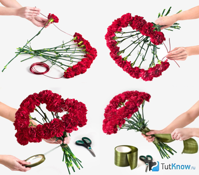 Как сделать букет из цветов своими руками мастер 135
