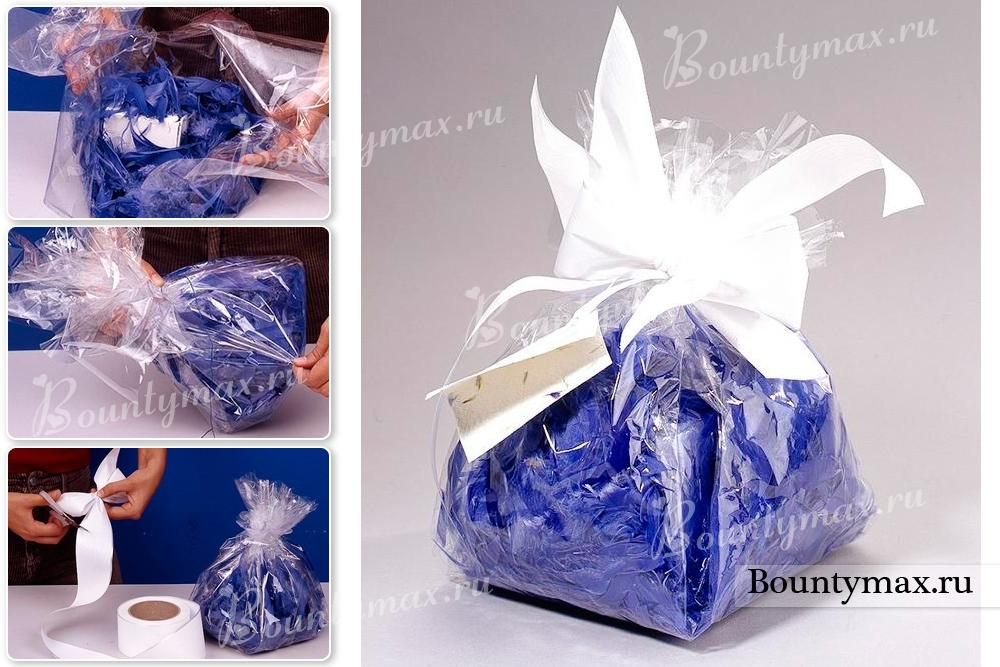 Упаковать подарок своими руками в пленку