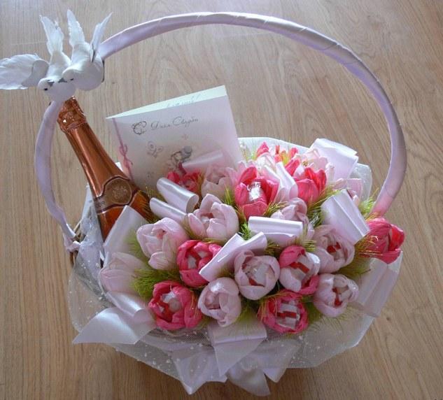 Букеты из конфет для на свадьбу своими руками