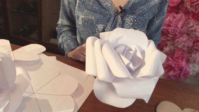 Большие бумажные цветы своими руками мастер класс