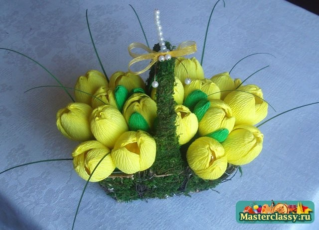 Букеты из конфет пошаговое для начинающих крокусы