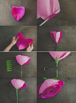 Цветы из бумаги гофрированной своими руками пошаговое фото