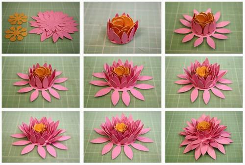 Мастер-класс объемные цветы из бумаги схемы шаблоны