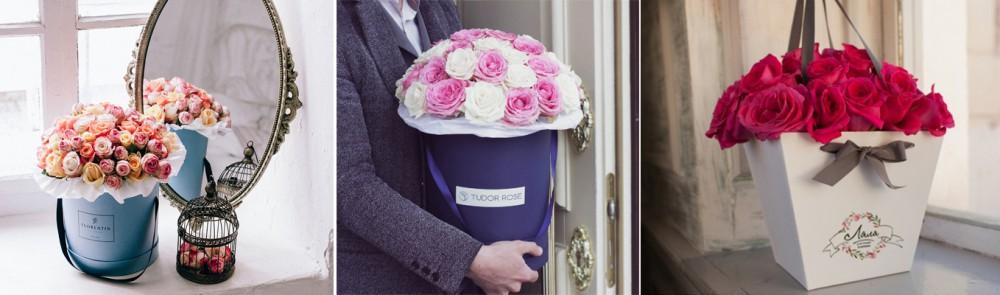 Сделать цветы в коробке