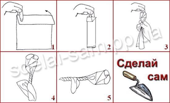Как сделать розу из салфетки в схемах