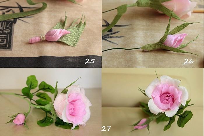 Как сделать цветы из гофрированной бумаги с