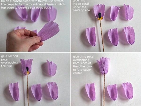 Как сделать тюльпаны своими руками видео
