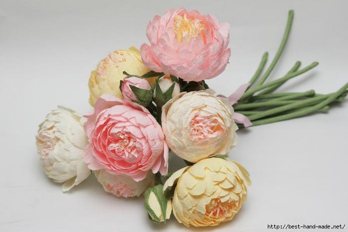 Как сделать цветы из креп бумаги своими руками поэтапно фото