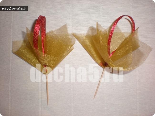 Букеты из конфет и органзы своими руками пошаговые