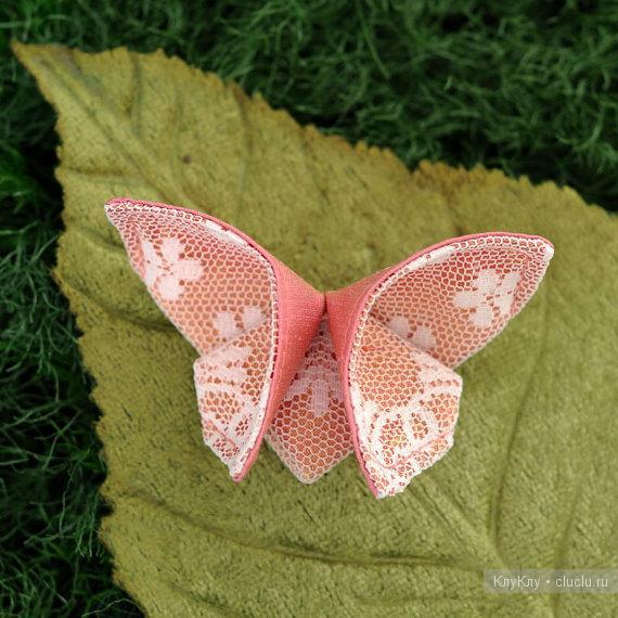 Бабочка своими руками из ткани