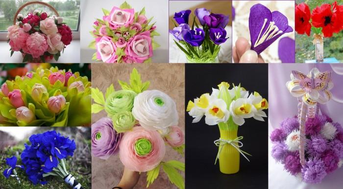 С видео цветы из гофрированной бумаги своими руками