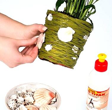 Как оформить цветочный горшок своими руками фото 843