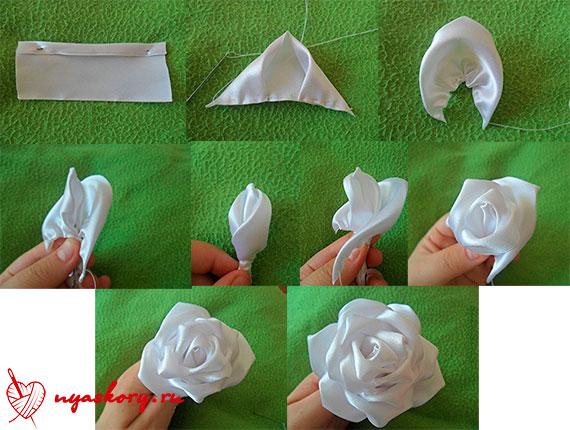 Изготовление роз из лент мастер класс видео - Ppualtai.ru