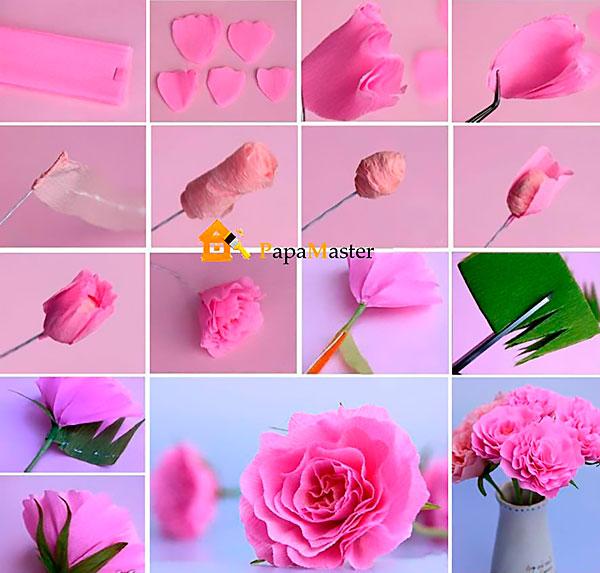 Из гофрированной бумаги цветы мастер класс