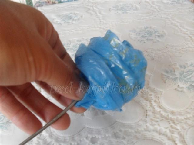 Розы из полиэтиленовых пакетов мастер класс