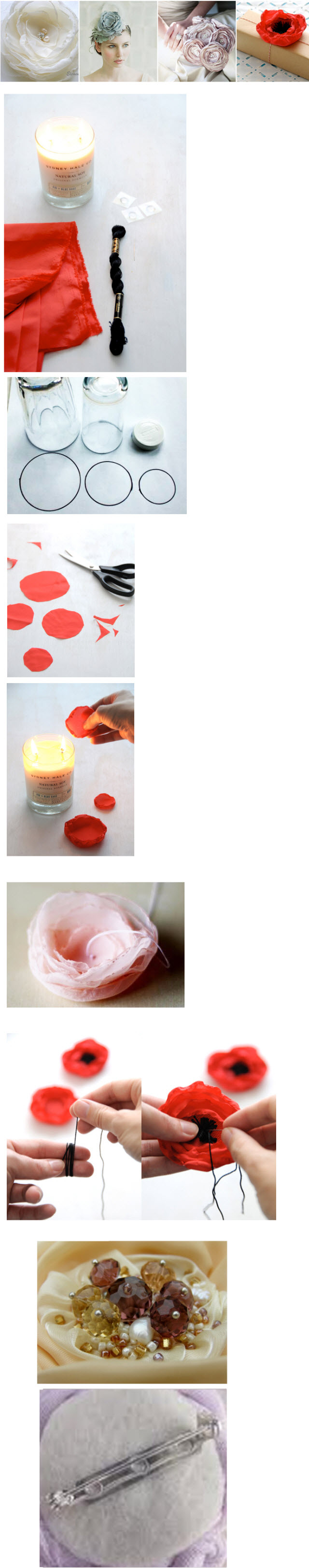 Как сделать розу из органзы своими руками пошагово 27