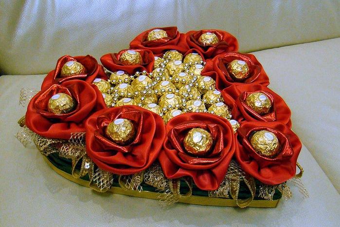 Красивые поделки из конфет