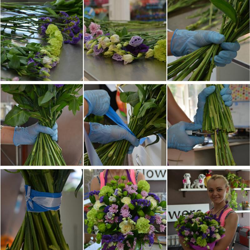 Как собрать букет из цветов мастер класс