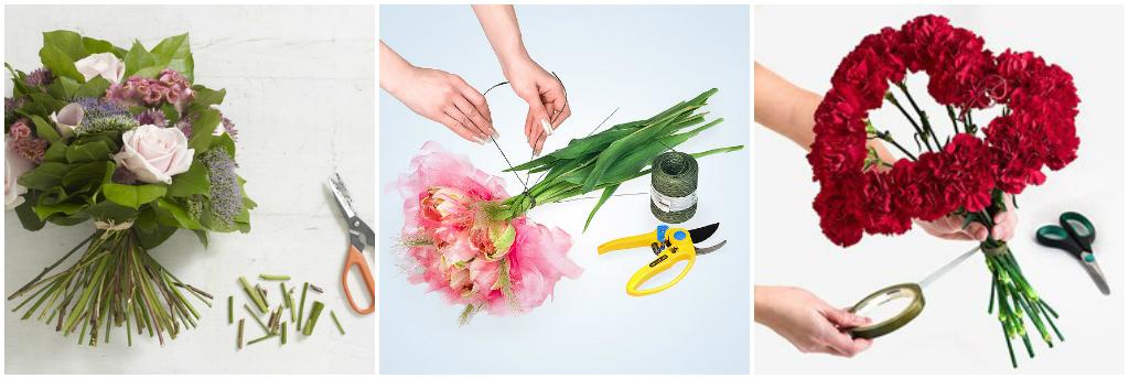 Как правильно собрать букеты из цветов