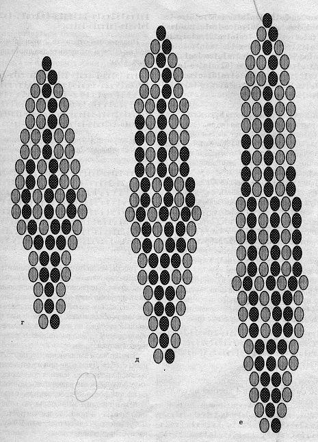 Гиацинт.из бисера схема