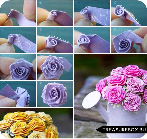 Цветы из ткани своими руками пошагово с фото