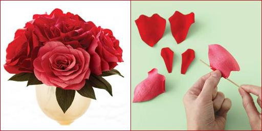 Цветы роз из гофрированной бумаги своими руками
