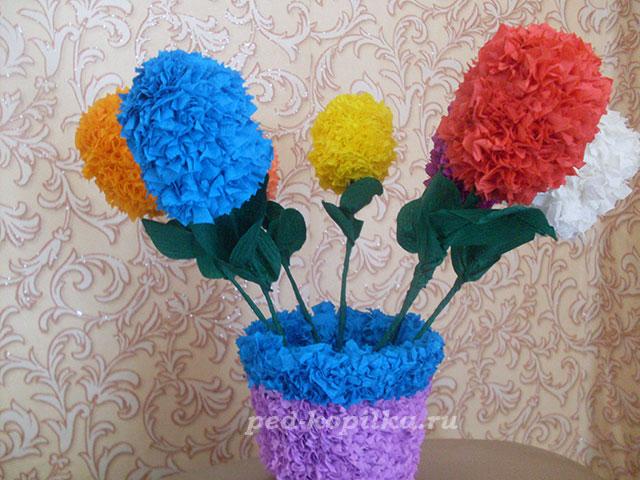Как сделать вазу для цветов своими руками напольную