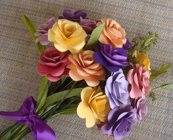 Красивый букет цветов своими руками из бумаги
