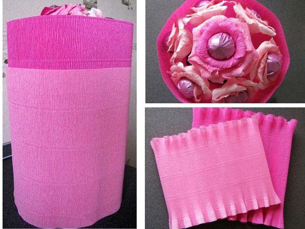 Упаковка для букета из гофрированной бумаги