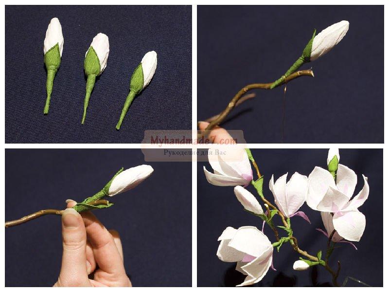 Бутон цветка своими руками 95
