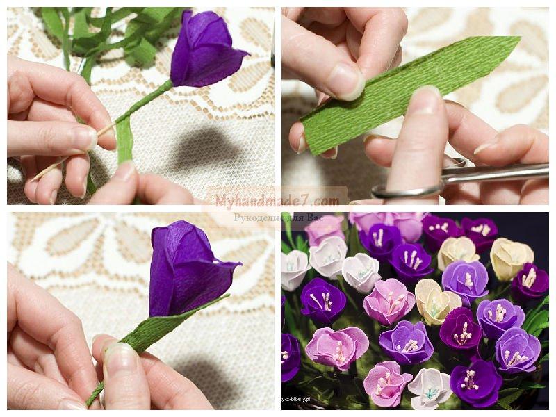 Поделки из гофрированной бумаги цветы картинки 81