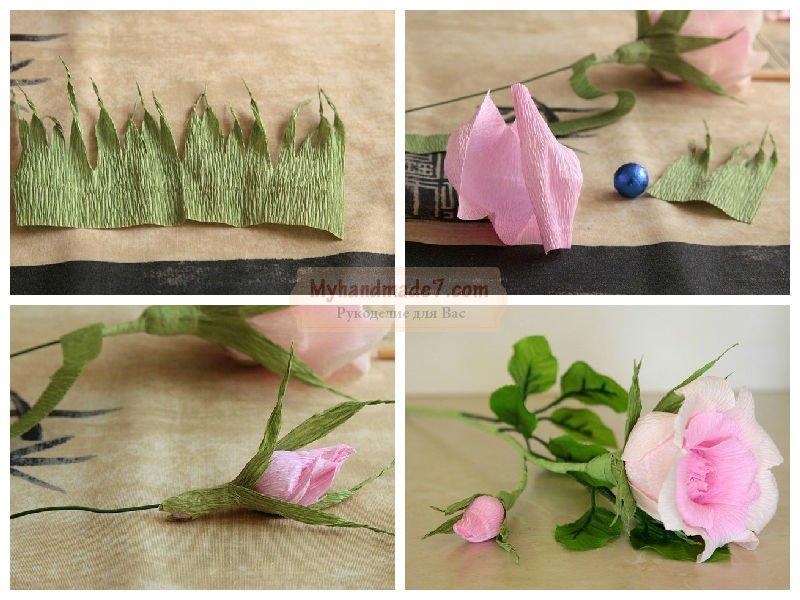 Цветы из гофрированной бумаги своими руками мастер класс видео
