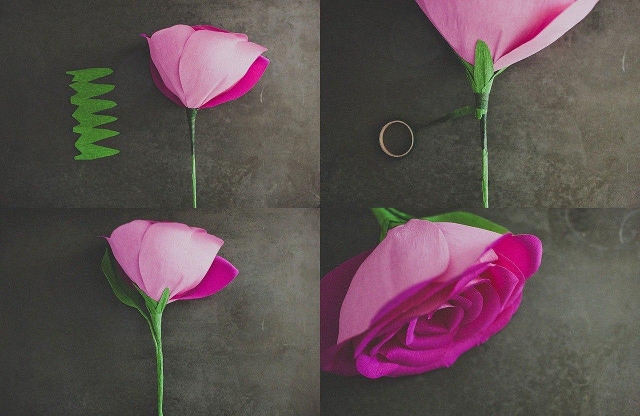 Розы из бумаги своими руками пошагово фото