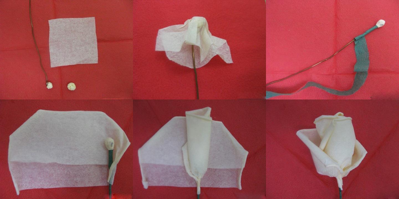 Как сделать розы из салфеток своими руками фото поэтапно