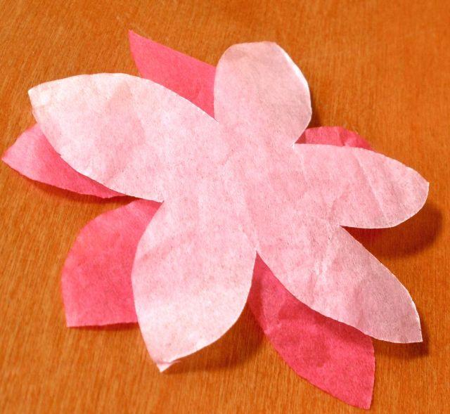 Веточка цветов из бумаги своими руками - Simvol-goroda.ru
