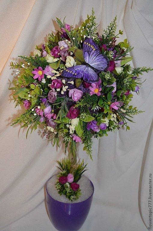 Топиарии из цветов как делать