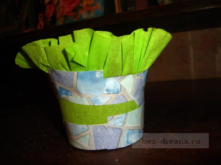 Горшки для цветов из бумаги своими руками