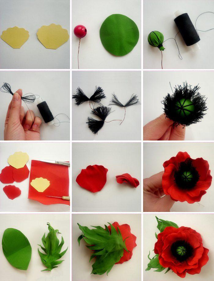 Поделки из фоамирана своими руками видео - Цветок из фоамирана своими руками. Мастер классы и видео