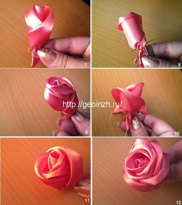 Как сделать простые розы из